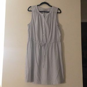 Ann Taylor LOFT Pinstripe Sleeveless Shirt Dress